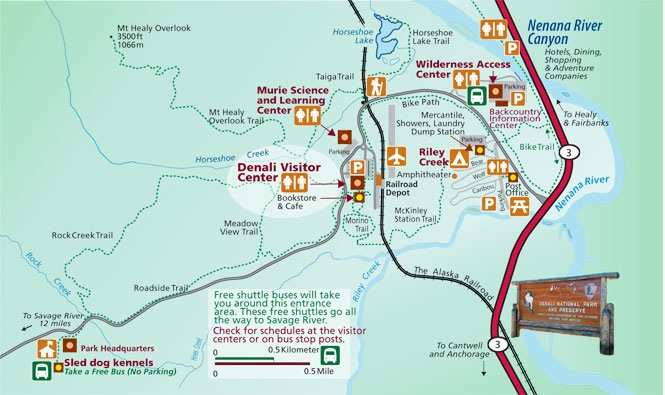 Entrance Map Of Denali National Park on